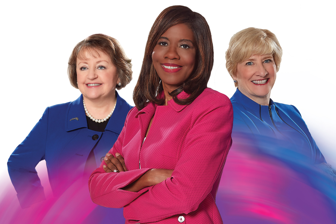 Photo of Patrice Harris, MD, Barbara McAneny, MD, Susan Bailey, MD