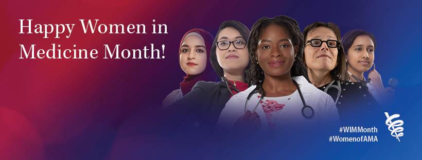 Women in Medicine Month Facebook cover photo