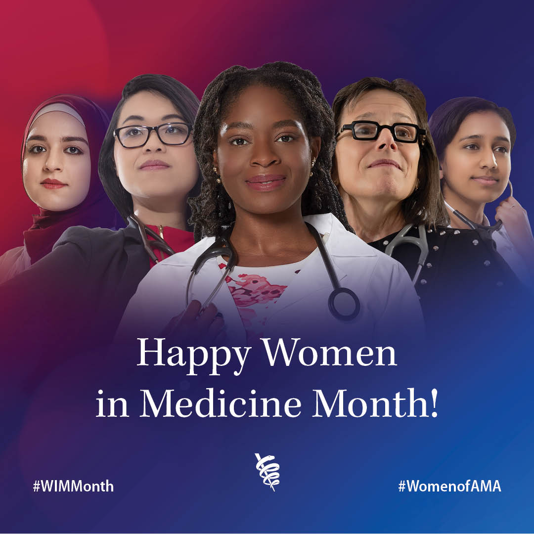 Graphic of diverse women used for Women in Medicine