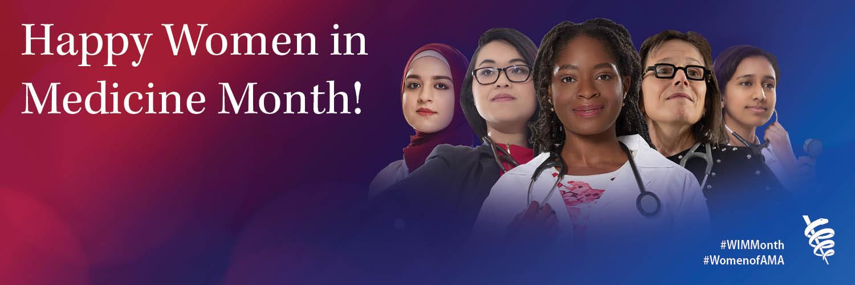 Women in Medicine Month Twitter header
