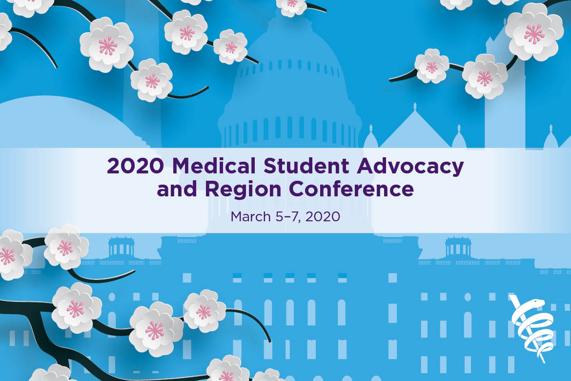 Graphic for 2020 Medical Student Advocacy and Region Conference (MARC).