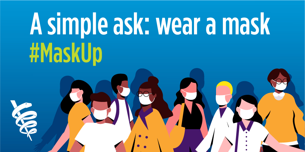 MaskUp: Simple Ask Wear a Mask Twitter