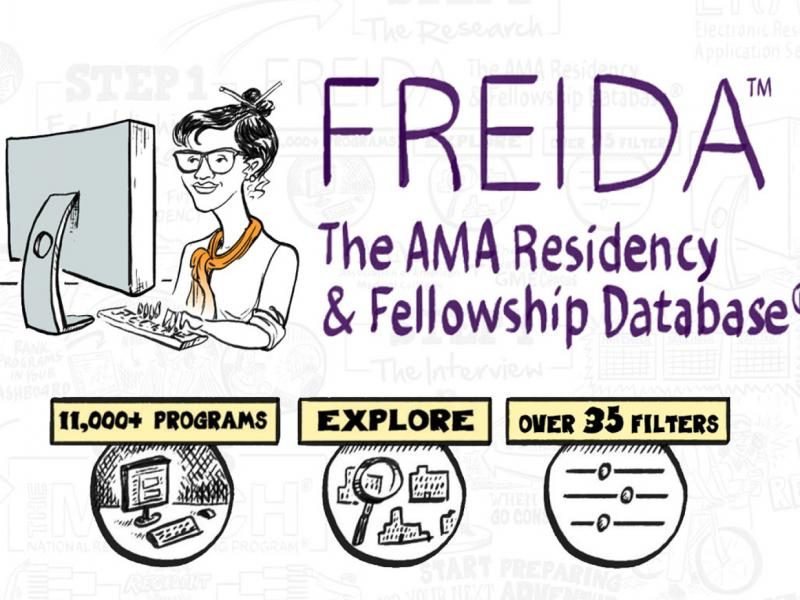 FREIDA cartoon and information