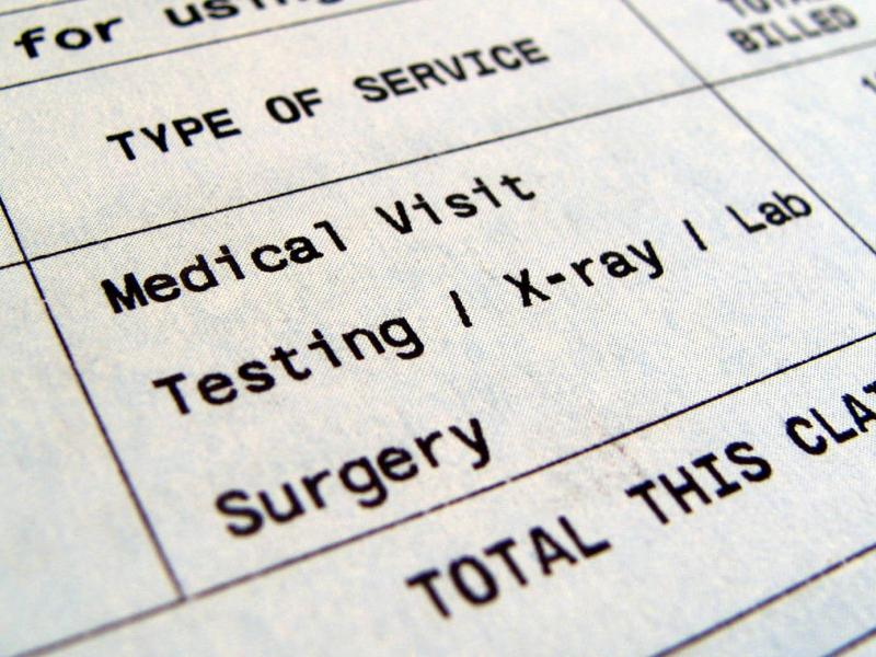 Medical testing and surgery claim expenses