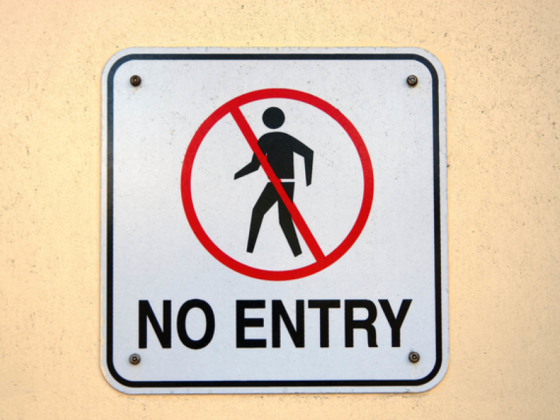 Sign with the words no entry