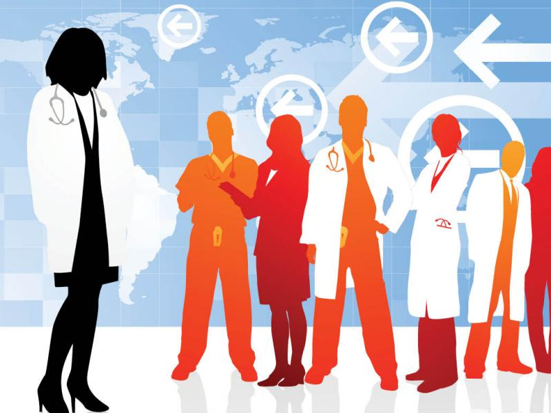 Physician silhouettes