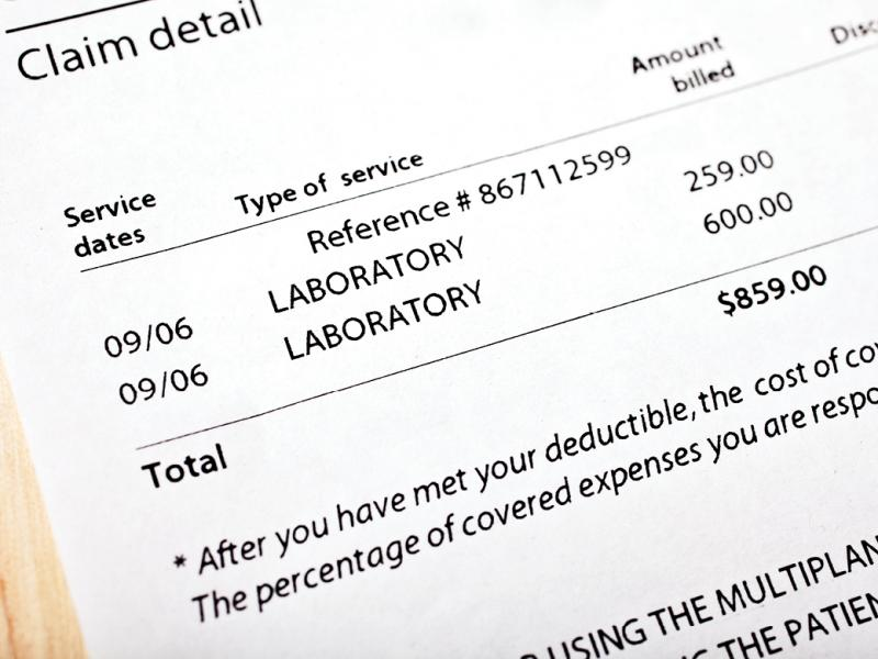 Medical billing statement