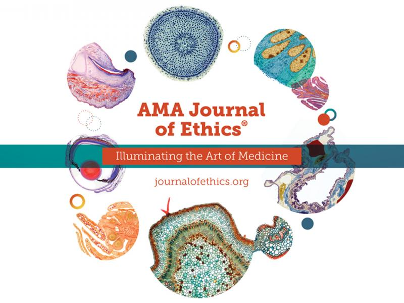 AMA Journal of Ethics illustration with a circle of cells