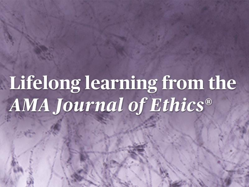 Journal of Ethics lifelong learning text