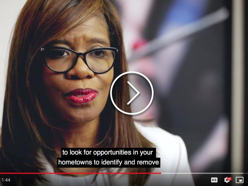 Patrice Harris, MD, health equity video screengrab