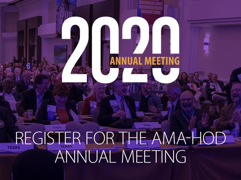 House of Delegates (HOD) 2020 Annual Meeting registration