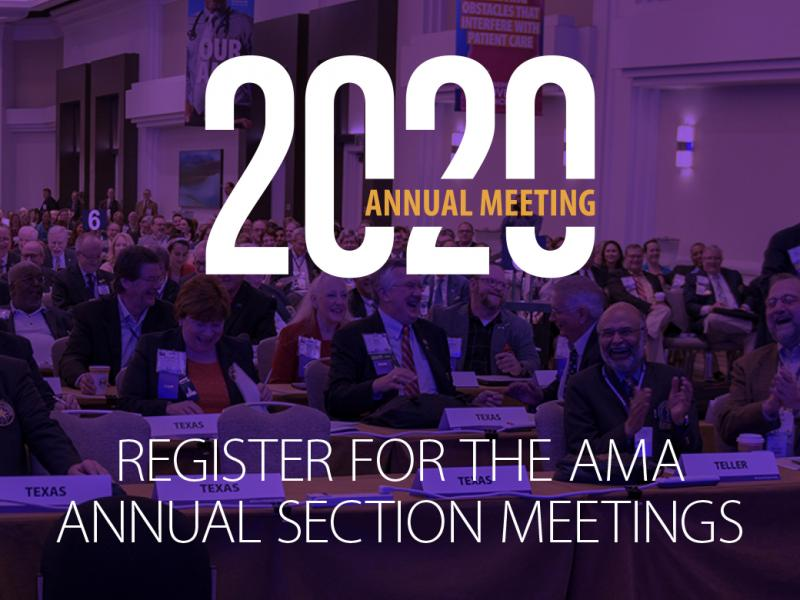 2020 Sections Annual Meeting registration