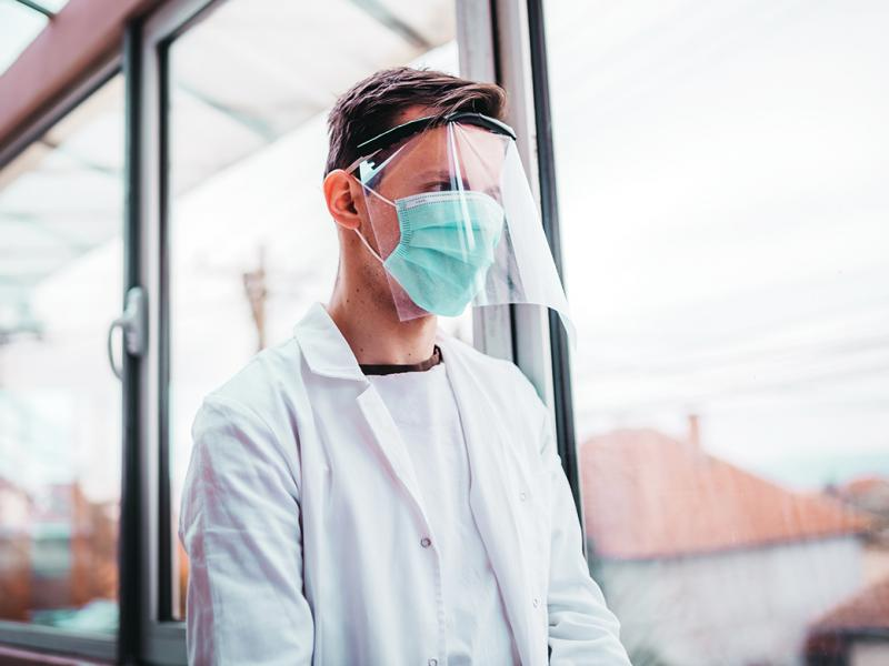 Person wearing PPE