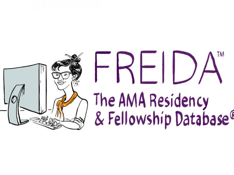 freida illustration showing woman with laptop