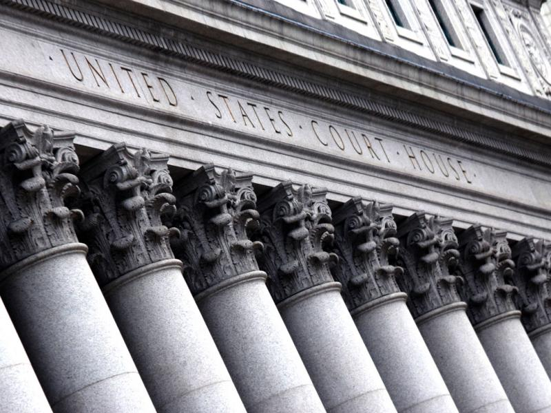 Columns in front of US courthouse.