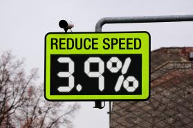 Graphic noting reduced speed