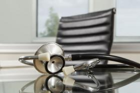 Stethoscope on a desk