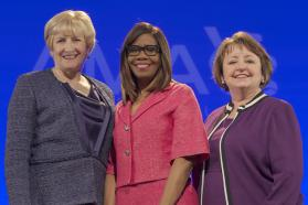 AMA Immediate Past President Barbara L. McAneny, MD, AMA President Patrice A. Harris, MD, MA, and AMA President-Elect Susan R. Bailey, MD