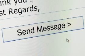 Send Message button in email