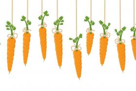 Graphic of dangling carrots