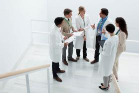 Group of physicians in discussion