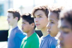 Group of male pre-teens