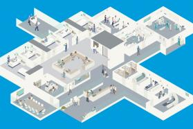 Graphic of a hospital layout