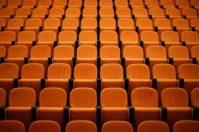 Empty seats in an auditorium