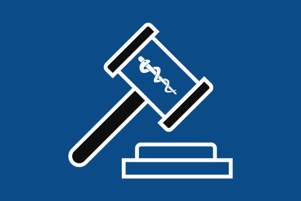 Vector of medical gavel