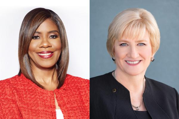 Photo of Patrice A. Harris, MD, MA and Barbara L. McAneny, MD