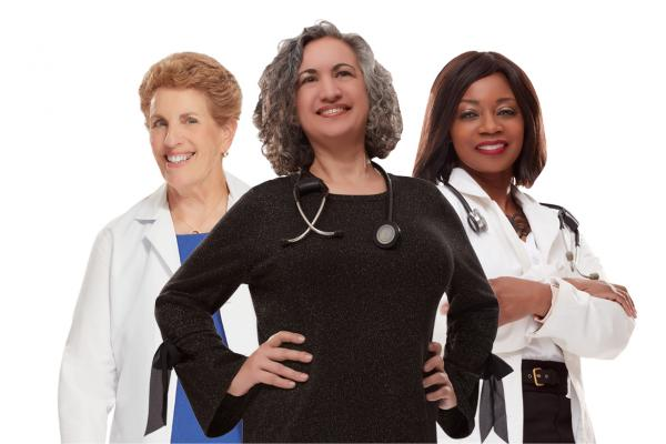 Photo of Claire Wolfe, MD; Siobhan Wescott, MD; Dionne Hart, MD
