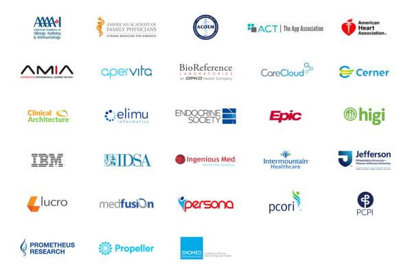 Logos of collaborators in the AMA Integrated Health Model Initiative (IHMI).