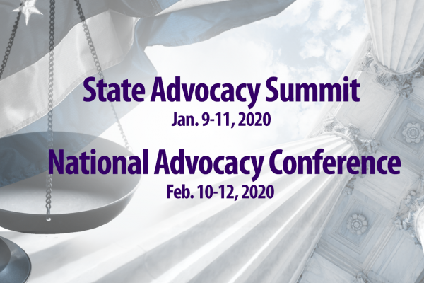 State Advocacy Summit (SAS) and National Advocacy Conference (NAC) graphic