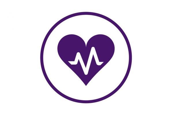 Heart icon-Health systems program well-being.