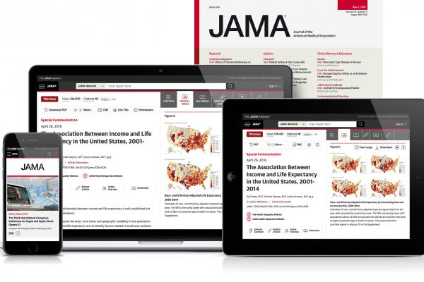 JAMA, as displayed on multiple devices.