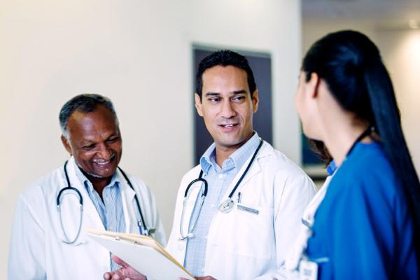 Three diverse physicians talk about their medical practice.