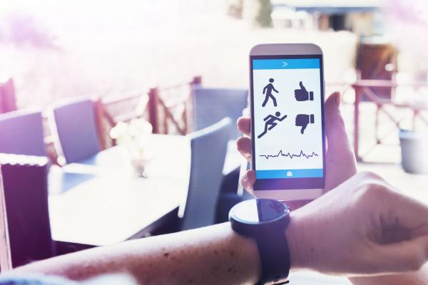 Mobile health app with smartwatch.