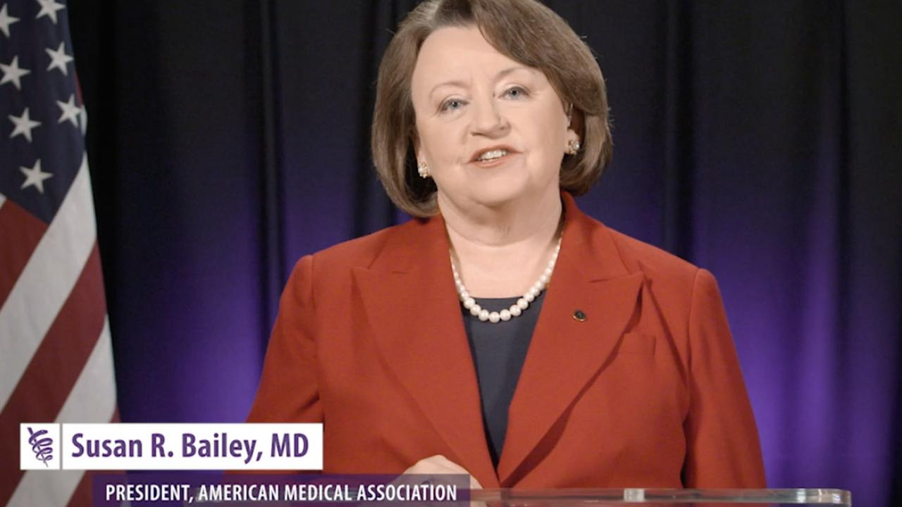 AMA president: Physicians face two-front battle on COVID-19