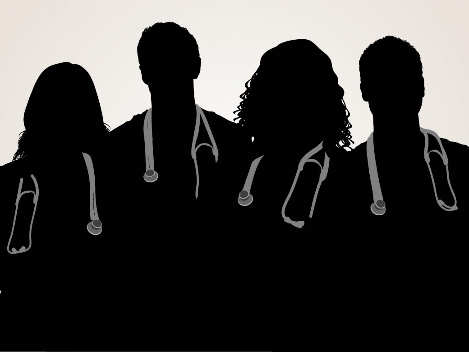 Silhouette of physicians