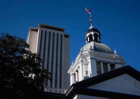 Florida old and new State Capitol buildings