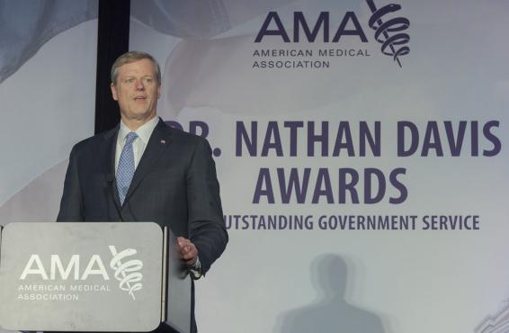 Charlie Baker, recipient of AMA Nathan Davis Award