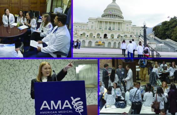 Collage of photos from the 2019 AMA Medical Student Advocacy & Region Conference (MARC) in Washington D.C.
