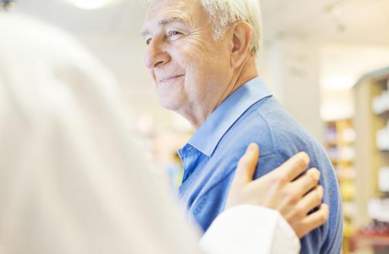 Smiling elderly patient