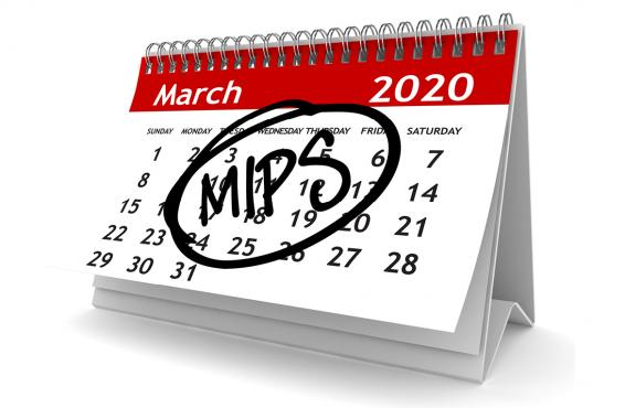 March calendar with the word MIPS circled