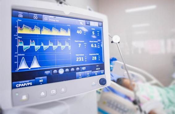 Patient on a ventilator