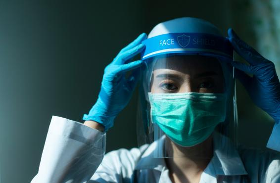 Health care professional in PPE