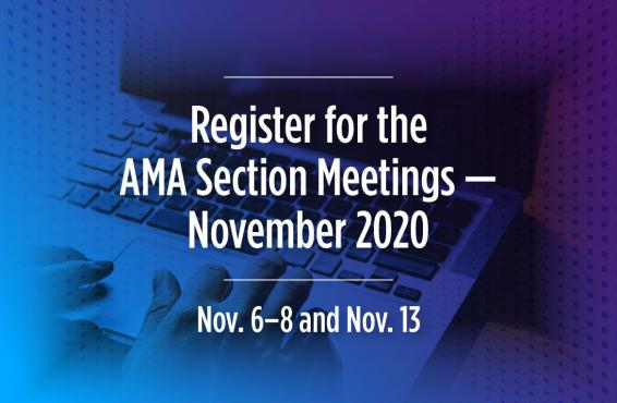 Image for November 2020 AMA Sections Meetings Registration.