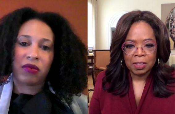 Oprah Winfrey and Dr. Maybank on Apple TV+