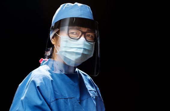 Health care worker in PPE