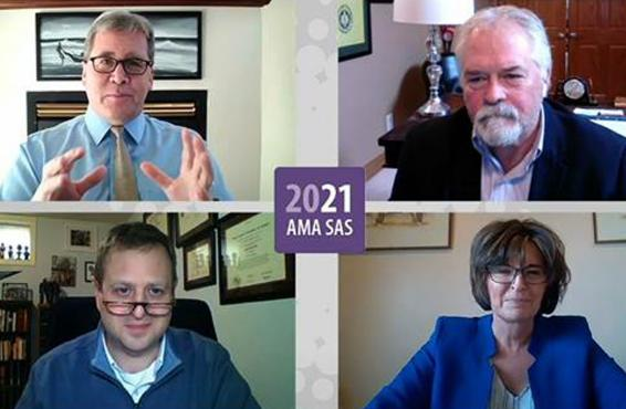 Tim Storey, Brad Barrett, MD, Laurie Lickley, and Patrick Hope